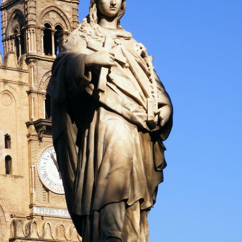 Statua Rosalia Cattedrale