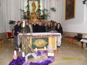 Nella Chiesa di santa Rosalia a Bivona (AG)