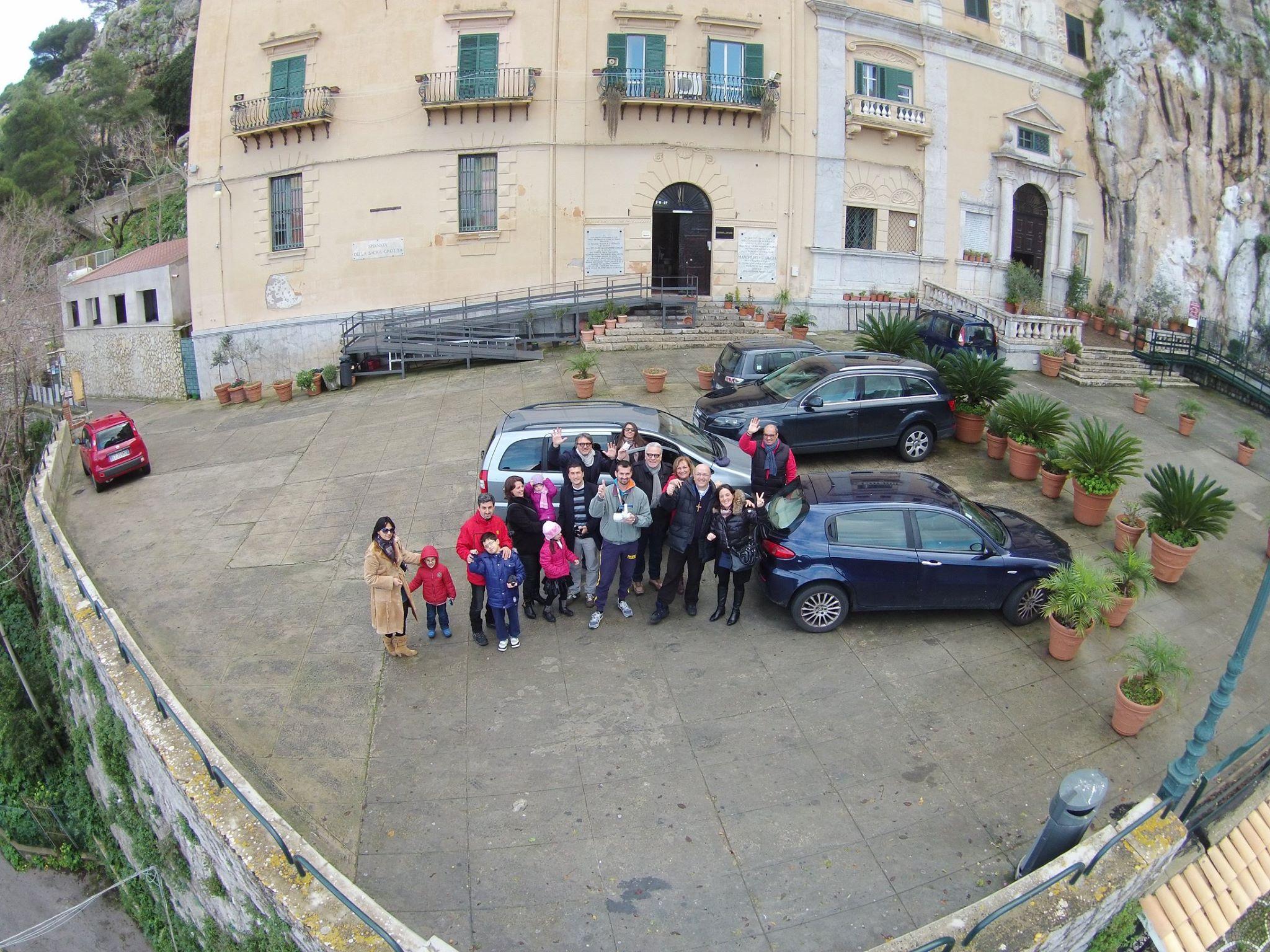 """Un """"Drone"""" Sul Santuario Di Santa Rosalia Sul Montepellegrino A Palermo."""