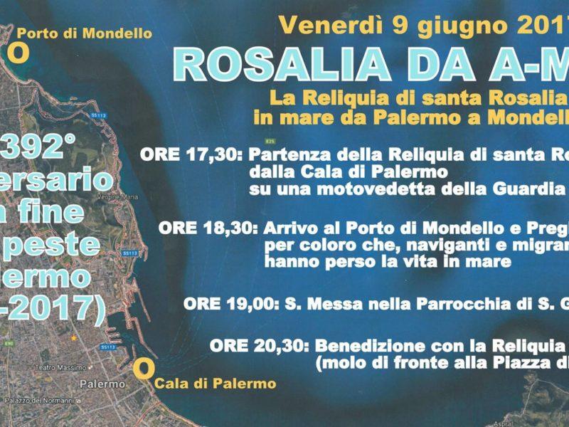 9 Giugno 2017: 392° Anniversario Della Fine Della Peste A Palermo.